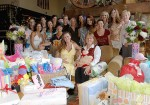 Trista surrounded by friends at her baby shower