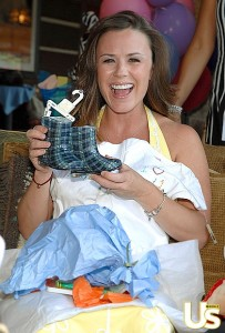 Trista at her baby shower