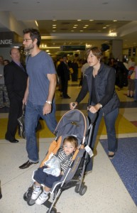 Mariska Hargitay and husband Peter Hermann with son August