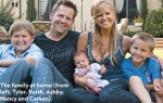 Keith Zubchevich and Nancy O'Dell with their family