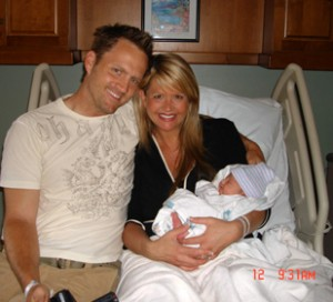 Keith Zubchevich and Nancy O'Dell with Ashby