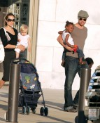 Angelina and Brad with Shiloh and Zahara