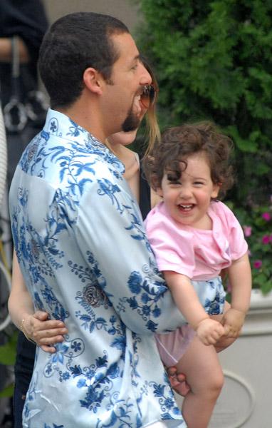 Adam Sandler with daughter Sadie on Set of his new movie
