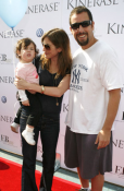 Adam Sandler and wife Jackie Titone with daughter Sadie