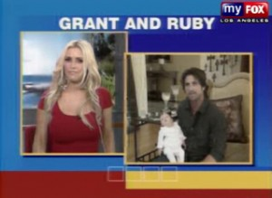 Jillian Barberie and Grant Reynolds show off Ruby