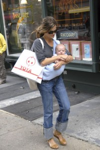 Keri Russell and son River