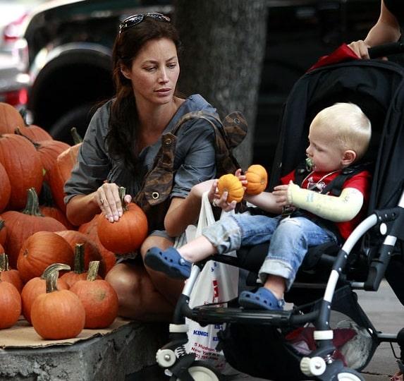 Christy Turlington and son Finn