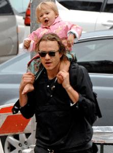 Heath Ledger with daughter Matilda November 2007