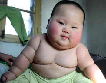 Chinese Baby Weighs 40lbs at 8 Months Old