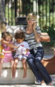 Heidi Klum with her kids at the park
