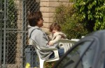 **EXCLUSIVE**Jason Bateman has fun with his daughter, Francesca Nora, at the Studio City Farmer's market, Los Angeles