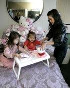 Kristi Yamaguchi with daughters