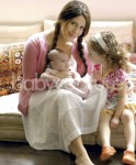 Soleil Moon Frye with daughters Poet and Jagger
