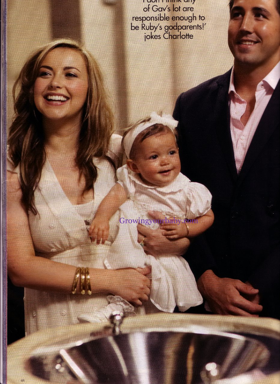 Charlotte Church And Gavin Henson Share Ruby S Christening