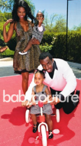 Kim and Diddy with their girls