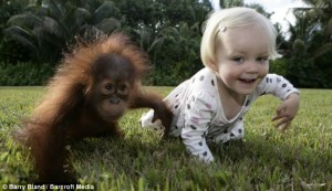 Emily Bland and her little friend