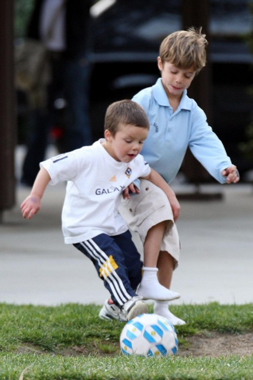Romeo and Cruz Beckham