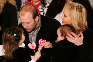 Elisabeth and Tim Hasselbeck with Grace and Taylor
