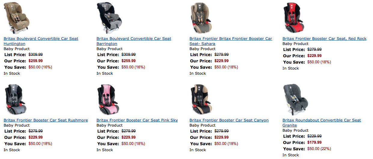Amazon Offers Up To 20 On Britax Car Seats