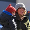 Maggie and Ramona Bundle Up In NYC