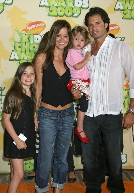 Brooke Burke & David Charvet arrive at Kids Choice awards