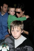 Victoria Beckham with sons Cruz & Brooklyn