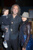 Nicolas Cage with wife Alice kim and son Kal-el
