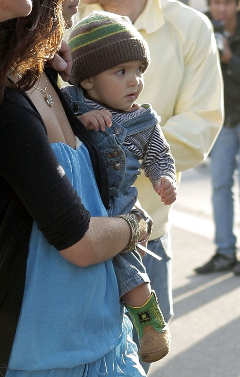 Camila Alves with son Levi at Surfrider Art & Music Festival