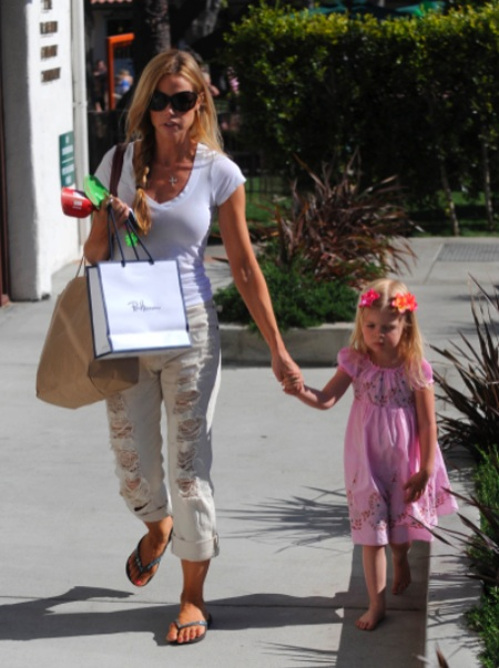 Denise Richards and daughter Lola at the park