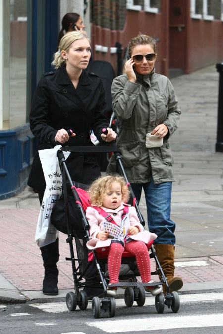 Spice Girl Geri Halliwell shares a laugh with her nanny as they take Bluebell on a  sc 1 st  Growing Your Baby & Bluebell Is Little Miss Busy