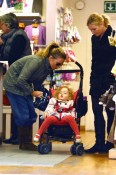 Spice Girl Geri Halliwell shops for childrens clothes for Bluebell in Hamptead, London