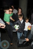 Victoria Beckham with sons Cruz, Romeo & Brooklyn