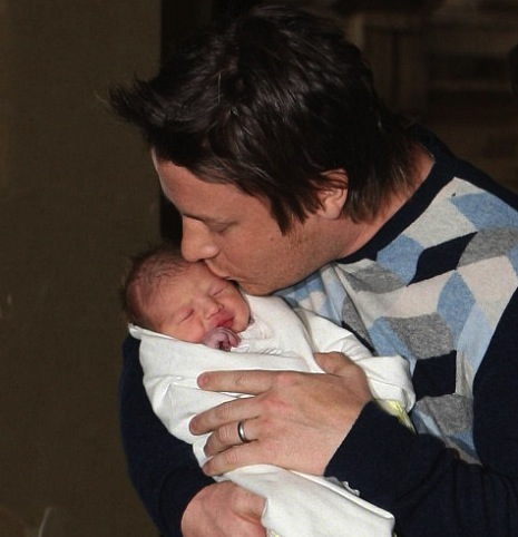 Jamie Oliver with daughter Petal