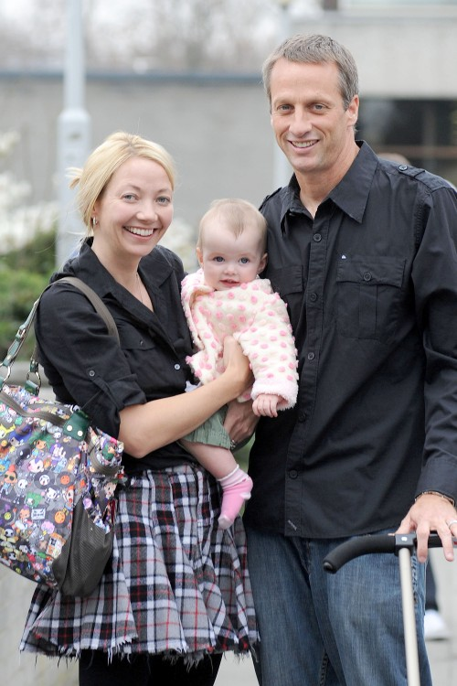 Photo of Tony Hawk & his  Daughter  Kadence Clover Hawk