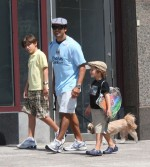 Mark Consuelos out with his boys Michael, Joaquin