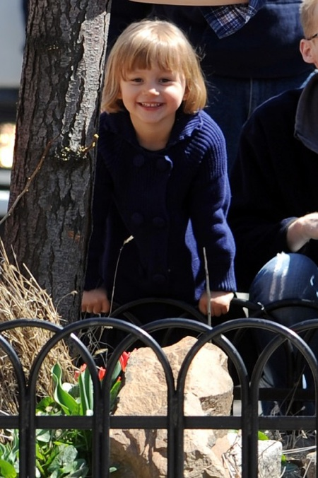 Matilda Ledger out in New York City