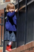 Matilda Ledger strolls in NYC