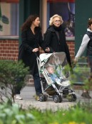 Minnie Driver and her son Henry stroll in NYC