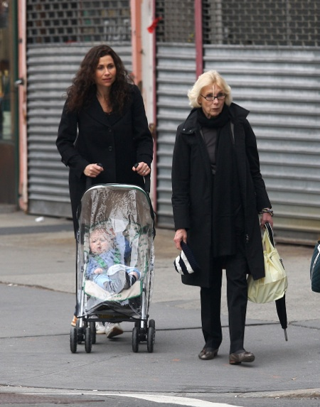 Minnie Driver with her son in New York City