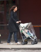 Minnie Driver steps out with her son Henry in NYC