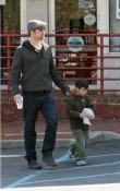 Pax with dad Brad Pitt on long island