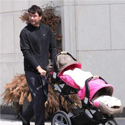 Jerry Transports His Twins In A Double Decker Stroller!