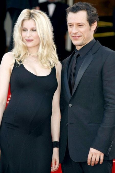 Pregnant Laetitia Casta with partner  Stefano Accorsi