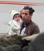 Sunny Sandler visits dad Adam on the set of Grown ups
