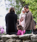 Sunny and Sadie Visit Adam Sandler  On The Set