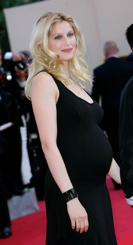 Pregnant Laetitia Casta at Cannes