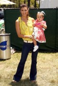 Ali Landry and daughter Estela at A Time for Heroes Celebrity Picnic