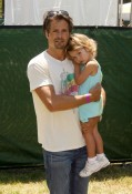 David Charvet and Heaven Rain at A Time for Heroes Celebrity Picnic