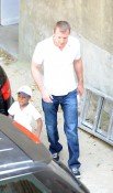 Guy Ritchie and David Banda leave Kabala Center in NYC