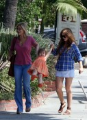 Isla Fisher and Olive Cohen Stroll in West Hollywood